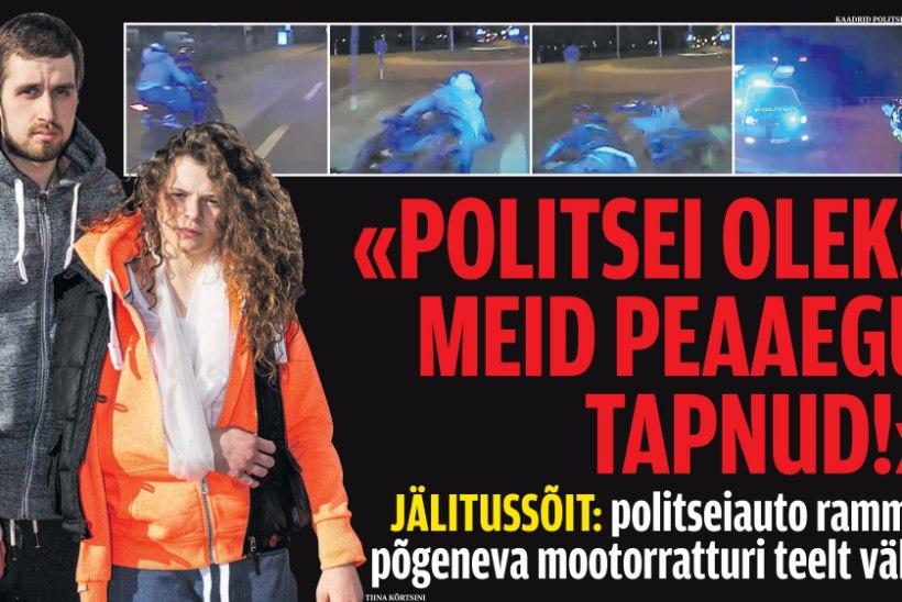 Teelt välja rammitud tsiklimees tekitas arutelu, kas politsei käitus valesti või ei?
