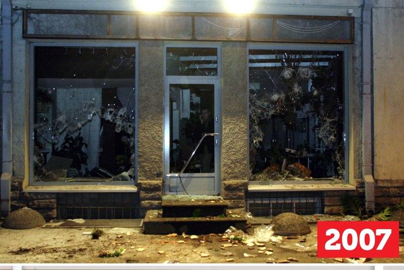ÕL ARHIIV | ENNE JA PÄRAST PRONKSIÖÖD: vaata, mis on aastatega saanud marodööride purustatud hoonetest