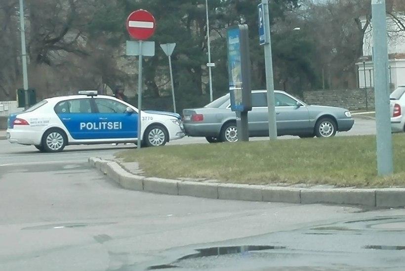 FOTOD   Pirital tegid avarii põgenev autojuht ja teda jälitanud politseisõiduk