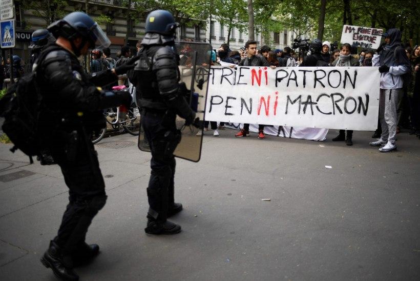 Pariisis protestivad noored presidendikandidaatide vastu