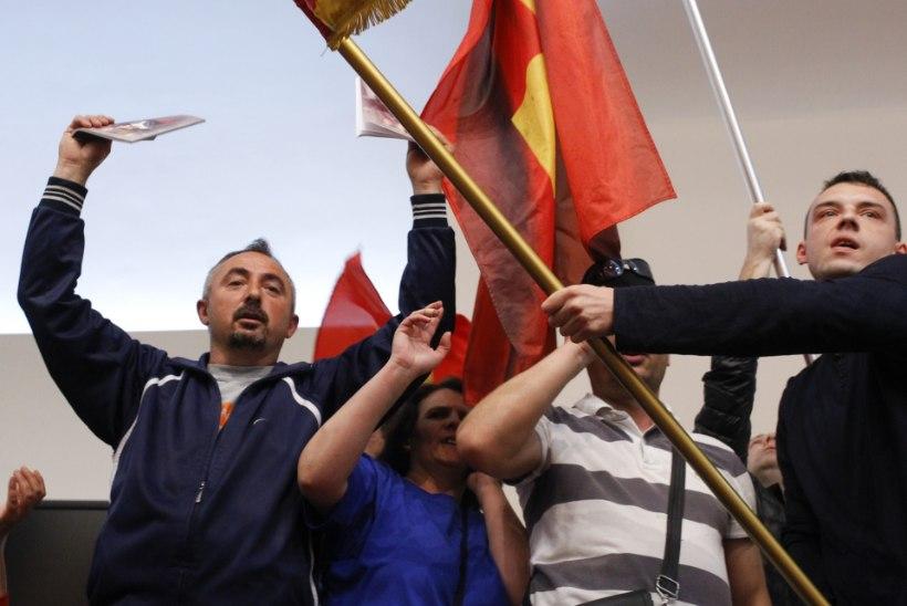 GALERII | Meeleavaldajad vallutasid Makedoonia parlamendihoone