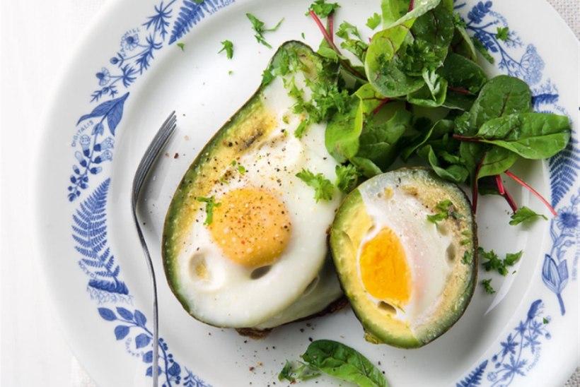 Avokaados küpsenud muna