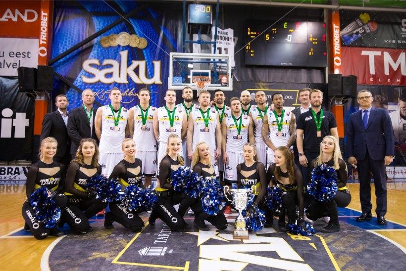 GALERII   Vaata, kuidas Tartu Ülikooli korvpallurid said kaela Balti liiga pronksmedalid
