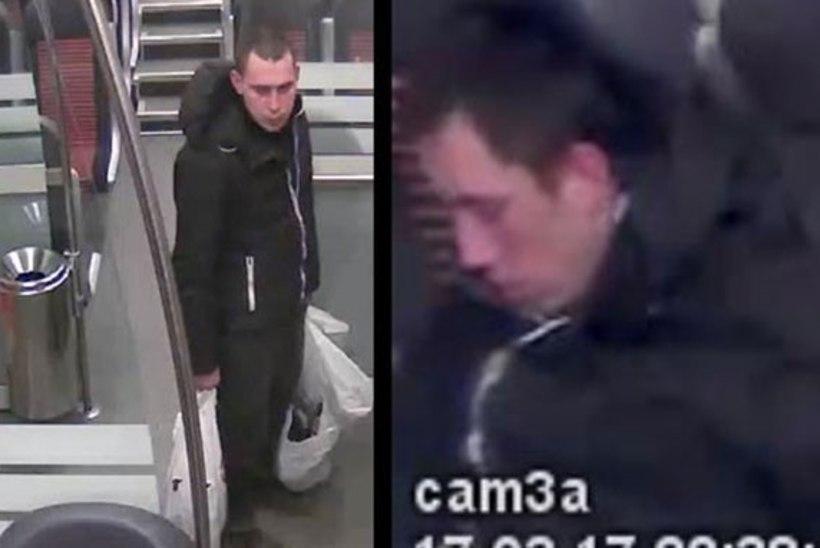 Politsei otsib kahte meest, et välja nõuda rongis urineerimisega tekitatud kahju