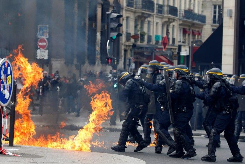 VIDEO | Le Peni vastane meeleavaldus Pariisis muutus vägivaldseks
