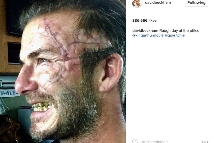 "David Beckhami näitlejadebüüt ""Kuningas Arthuris"" saab mõnitada"