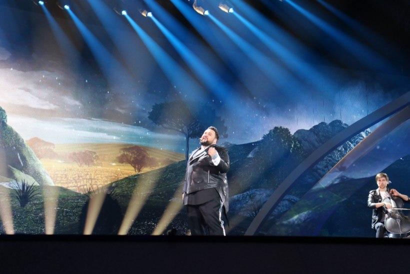 SUUR GALERII | Piilu Eurovisioni teise poolfinaali lavaproovi, kus ka Koit ja Laura üles astusid