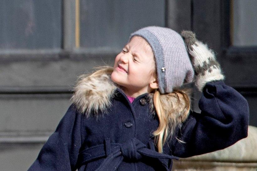 VAHVA FOTO: Rootsi pisiprintsess Estelle poseeris koos KISSi rokkaritega