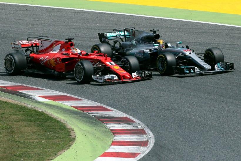 Hamilton mängis Bottase abil Vetteli üle, soomlastel must päev