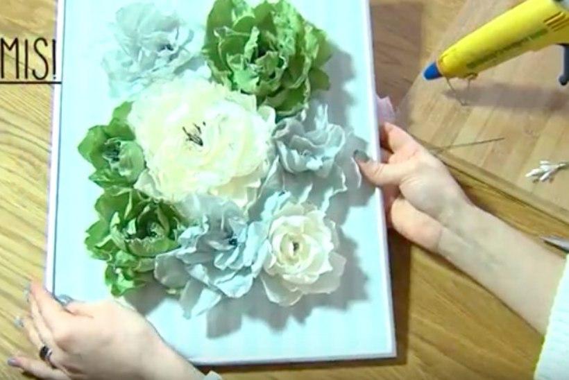 Nipikanali õpetus: kuidas teha krepp-paberist lilli
