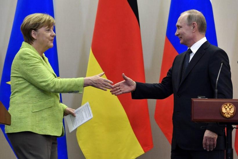 Kohtumine Sotšis: Putin süüdistas Ukrainat, Merkel tuletas meelde kodanikuühiskonna tähtsust