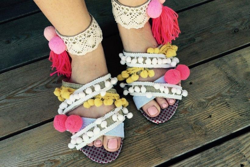 Tee ise popid tuttidega sandaalid
