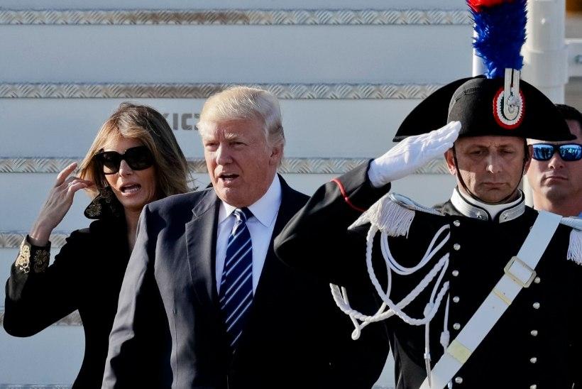 GALERII | President Trumpi lennuk maandus Itaalias