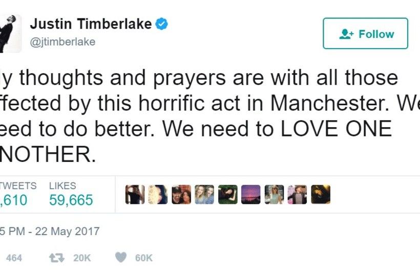 Tuntud inimesed avaldavad Twitteris Manchesteris hukkunute mälestuseks kaastunnet