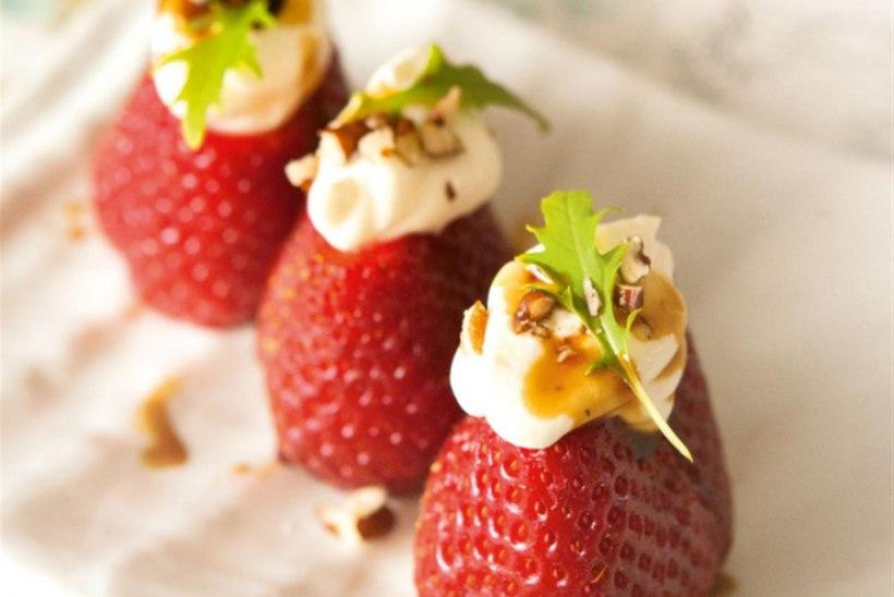 Kitsejuustutäidisega maasikad