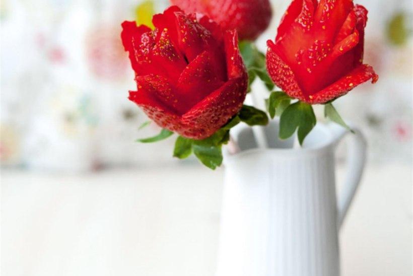 Head nipid: Kuidas teha maasikatest roose?