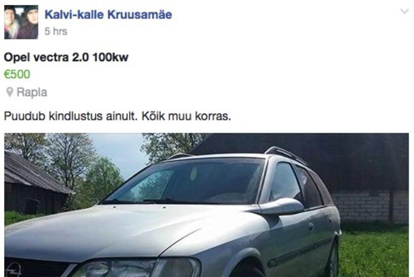 KUIDAS SIIS NII? Kalvi-Kalle pani kingituseks saadud auto müüki!
