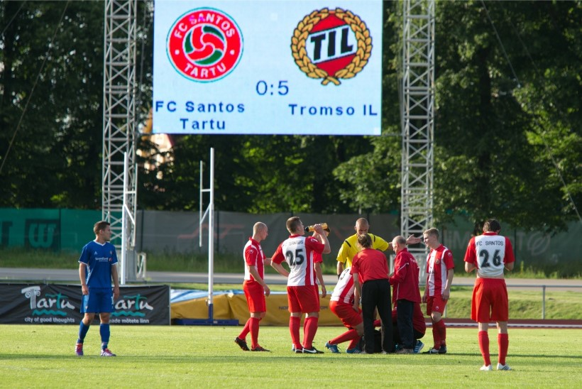Tartu jalgpall – Olümpia triumfist Santose imeni