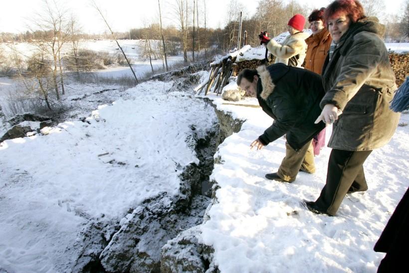 Selgus Sauga jõe ääres toimunud maalihke tekkepõhjus