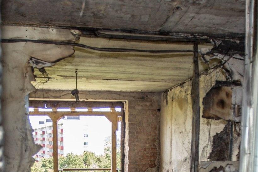 Korteripõlengu kustutustöödega uputati naabreid neljal korrusel