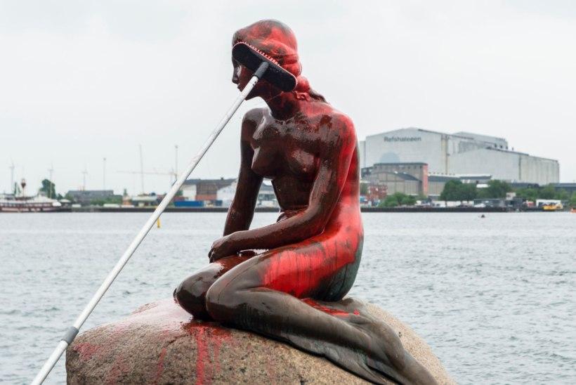 FOTOD | Kopenhaageni kuulus Väike Merineitsi värviti punaseks