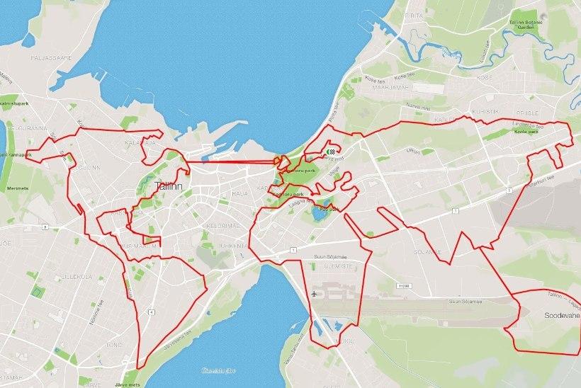 GPS-kunsti võlud: kaheksa tundi jalgrattal ja maailmakaart valmis!