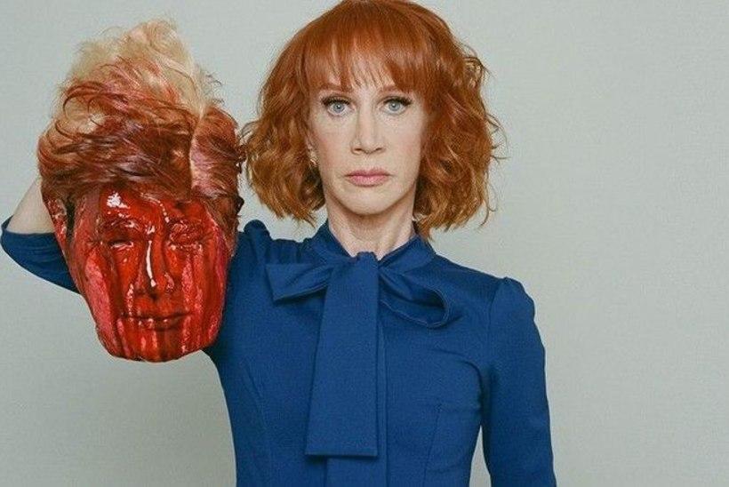 VALUS! Koomik Kathy Griffin kaotas fotol Trumpi verise pea käeshoidmise tõttu töö