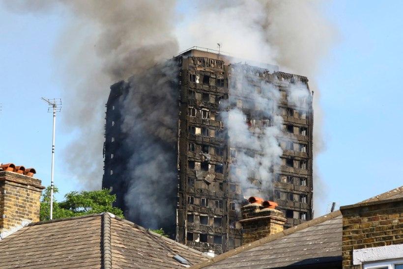 TRAGÖÖDIA LONDONIS: päästjad tegutsesid süttinud tornmajas ka öösel