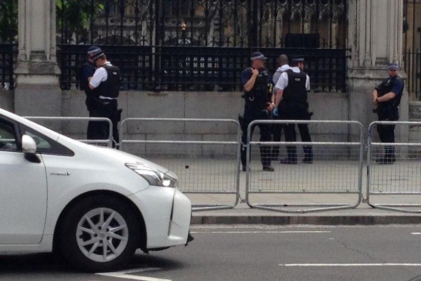 FOTOD | Briti parlamendihoone juures vahistati noaga mees