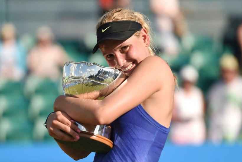 Mitte ainult Kontaveidi suur päev: maailma 70. reket võitis Suurbritannias WTA-turniiri