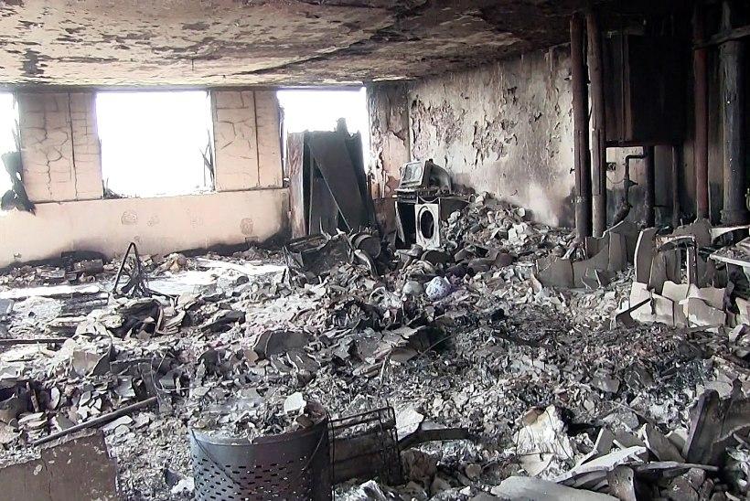 VIDEO JA FOTOD | Grenfell Tower pärast laastavat tulekahju