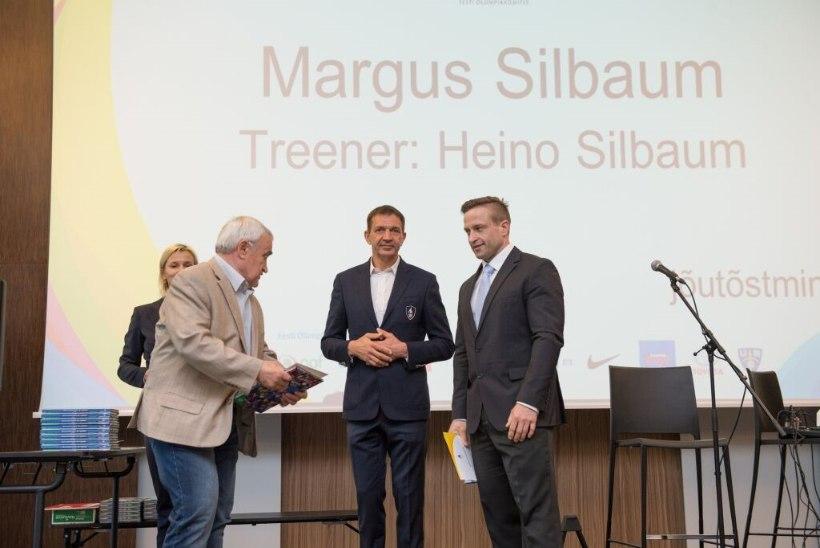 EOK tunnustas Hiltonis jõutõstjaid Margus Silbaumi, Siim Rasti ja Mihkel Ruutu
