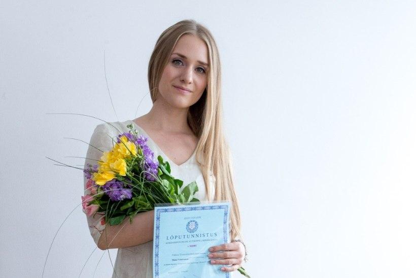 Maia Vahtramäest sai diplomeeritud rätsep: on tore ja kurb korraga, et kool läbi sai