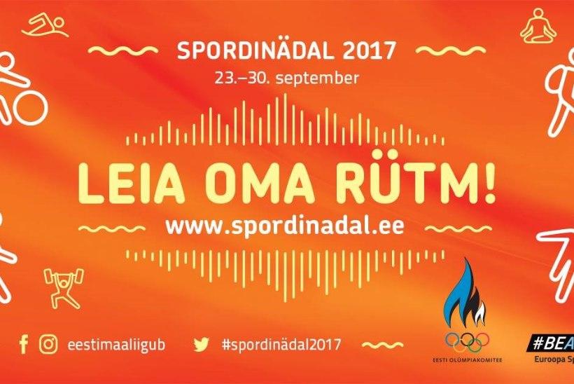 Spordinädal 2017 on peagi käes! Registreeri end üritustele!