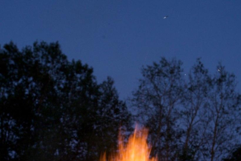 Üle lõkke hüpanud ja põletada saanud vanur vajas kiirabi