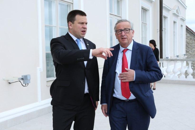 Ratas tutvustas Junckerile Eesti eesistumise tööplaane