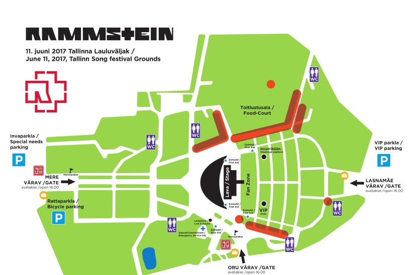 Tule Rammsteini kontserdile ühistranspordiga ning jäta külmrelvad koju!