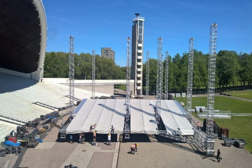 Rammsteini lavaehitusel oli rakkes üle saja inimese