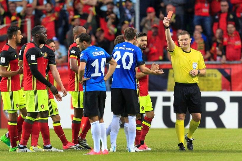 7 VÕTIT   Punane kaart oli superstaaride vastu liiast, Eesti - Belgia 0:2