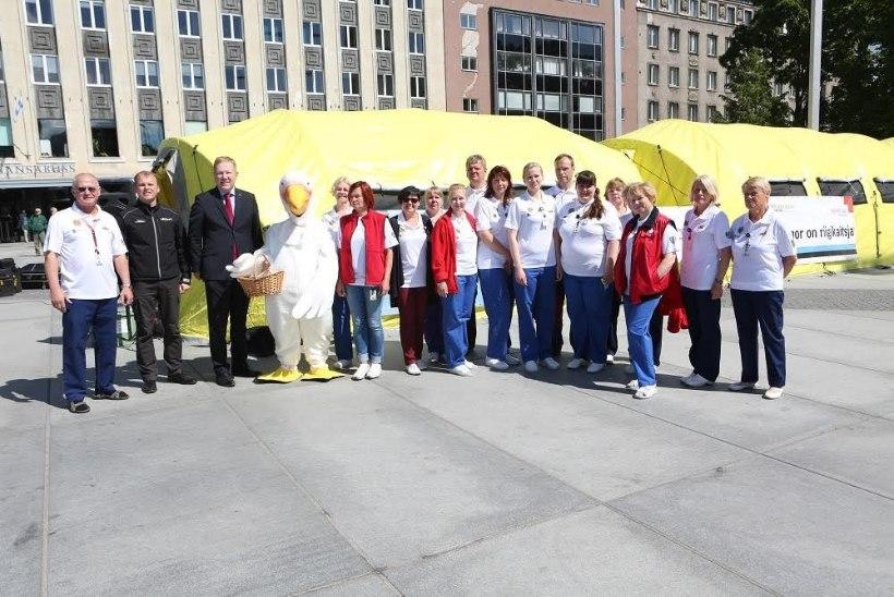 Tallinnas saab Vabaduse väljakul doonoritelkides verd loovutada