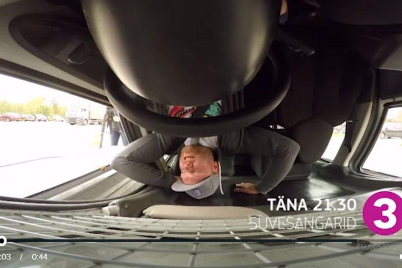 TV3 VIDEO | Suvesangar Kristjan Rabi käis autoga üle katuse