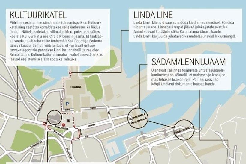 MEELDETULETUS: 13. ja 14. juuli hommikul tuleb Tallinnas liiklejail arvestada liiklusseisakutega