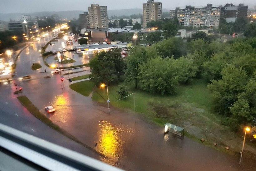 VIDEOD ja FOTOD | Vilniuses taas uputab - lennukid ei lenda, autod ei sõida