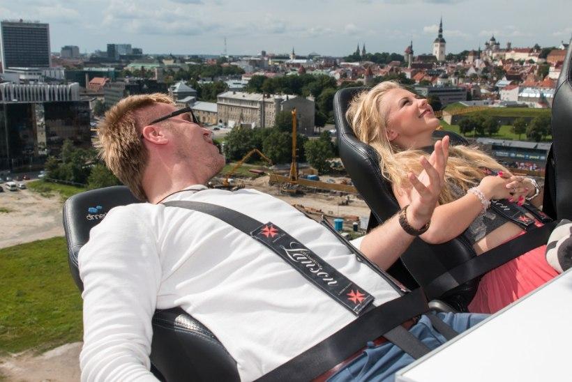 Mick Pedaja, Tõnu Timmi ja Anett Kulbin laulavad 50 meetri kõrgusel taevarestoranis