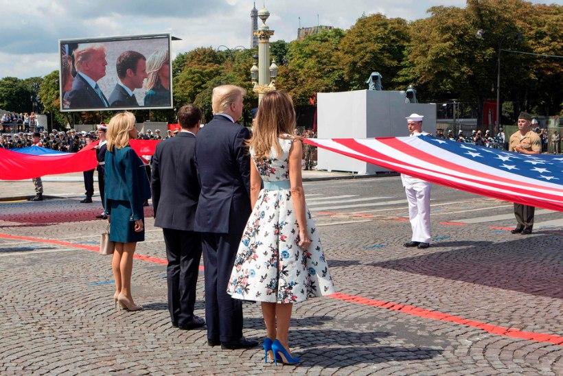 FOTOD JA VIDEO | Bastille' päeva paraadil osales aukülalisena ka Donald Trump