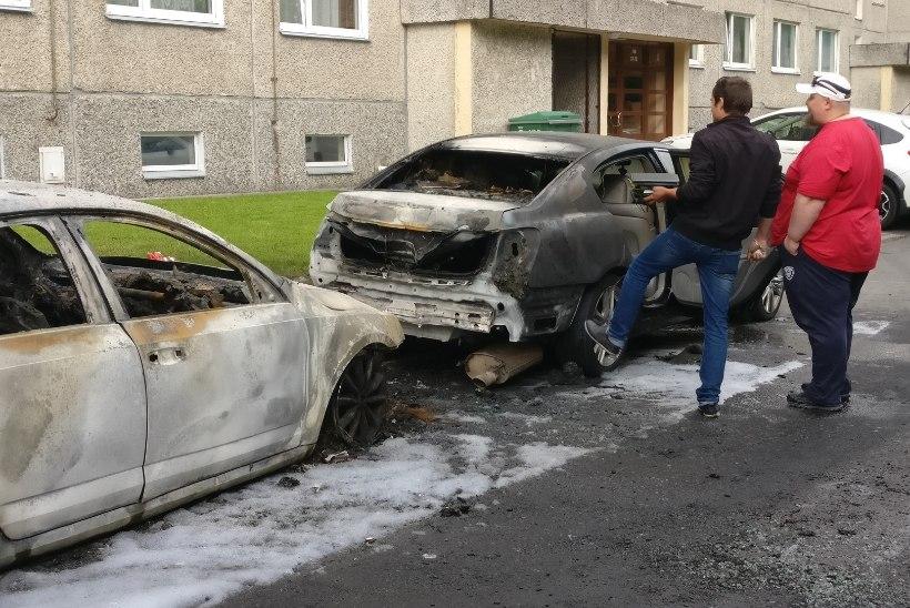 Õismäe autopõlengus kahtlustatav võeti vahi alla