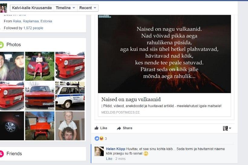 HELEN JA KALVI-KALLE ON RIIUS? Kalvi-Kalle teeb Facebooki süngeid postitusi