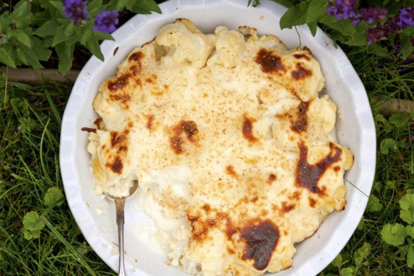 Lillkapsas ja oad juustukastmega