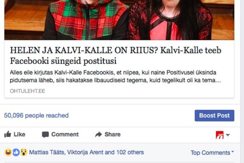 Kalvi-Kalle saatis Õhtulehe p***e!
