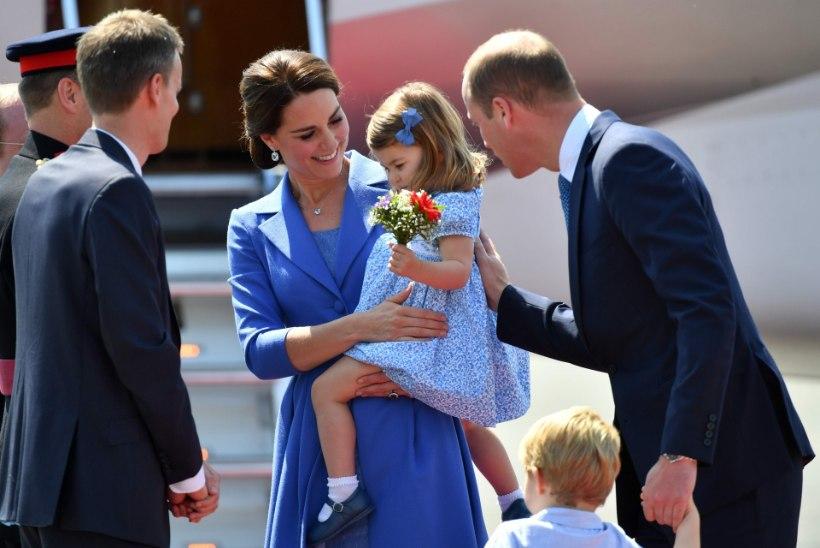 FOTOD | Kate ja William jõudsid koos lastega Berliini